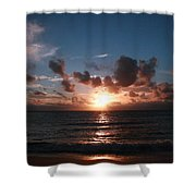 Ma'ili Sunset Shower Curtain