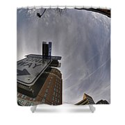 Main And Genesee St Downtown Buffalo Shower Curtain