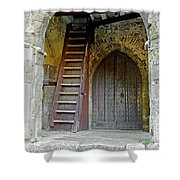 Main Entrance To St Mary's Church At Brading Shower Curtain