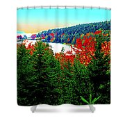 Maine Long Pond Acadia  Shower Curtain