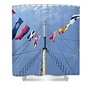 Main Mast Of Ss Great Britain At Bristol England Shower Curtain