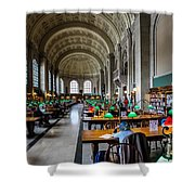 Main Reading Room Of Boston Public Library Shower Curtain