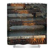 Main Stem Chicago River Shower Curtain by Steve Gadomski