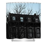 Main Street Building Shower Curtain