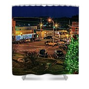 Main Street Christmas Shower Curtain