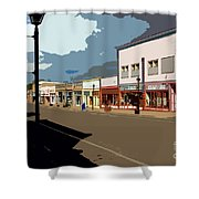 Main Street Shower Curtain