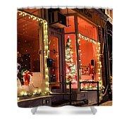 Main Street During The Holiday Season Shower Curtain by Sven Kielhorn