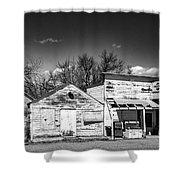Main Street In Fort Shaw, Montana Shower Curtain