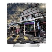 Main Street Jive Shower Curtain