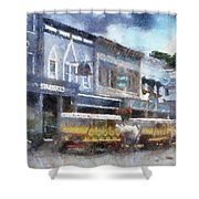 Main Street Mackinac Island Michigan Pa 04 Shower Curtain