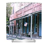 Main Street Micanopy Florida Shower Curtain