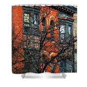 Main Street Middletown On A Sunny Spring Day Shower Curtain