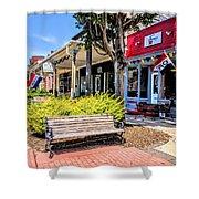 Main Street Mount Joy Shower Curtain