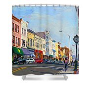Main Street Nayck  Ny  Shower Curtain by Ylli Haruni