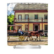 Main Street Of A Bygone Era At Old World Wisconsin Shower Curtain