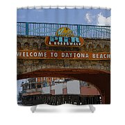 Main Street Pier And Boardwalk Shower Curtain by David Lee Thompson
