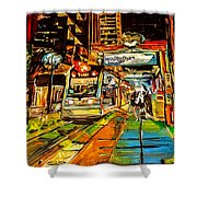 Main Street Square Shower Curtain