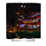 Main Street Station At Night Shower Curtain