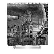 Main Street Station Nw B W Shower Curtain by Jemmy Archer