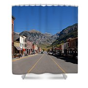 Main Street Telluride Shower Curtain by David Lee Thompson