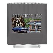 Main Street, Usa Camaro Shower Curtain
