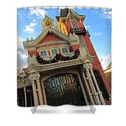 Main Street Usa Fire Department Shower Curtain