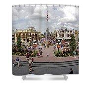 Main Street Usa Panorama Shower Curtain