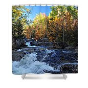 maine 38 Baxter State Park South Branch Stream Shower Curtain