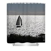 maine 44 Sailboat Shower Curtain