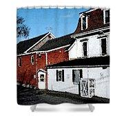 Maine Blue Hill Alleyway Shower Curtain