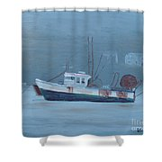 Maine Boat 2 Shower Curtain