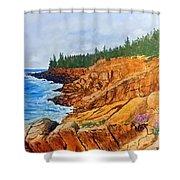 Maine Coast Acadia National Park Shower Curtain