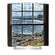 Maine Coast Picture Frame Shower Curtain