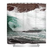 Maine Coast Storm Waves 1 Of 3 Shower Curtain