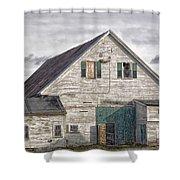 Maine Farm Barn Shower Curtain