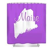 Maine In White Shower Curtain