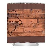 Maine Map Brand Shower Curtain