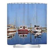 Maine Marina Evening Shower Curtain