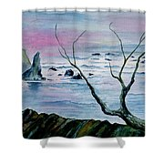 Maine Seawatch Shower Curtain