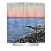 Maine Sunset Shower Curtain
