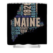 Maine Word Cloud 1 Shower Curtain