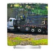 Maintenance Truck Shower Curtain