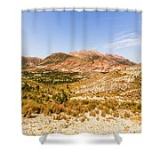 Majestic Arid Peaks Shower Curtain