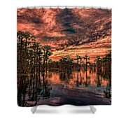 Majestic Cypress Paradise Sunset Shower Curtain