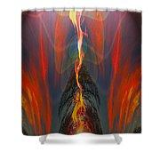 Majestic Fire Shower Curtain