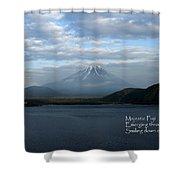 Majestic Fuji - Haiku Shower Curtain