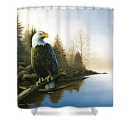 Majestic Light - Eagle Shower Curtain