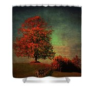 Majestic Linden Berry Tree Shower Curtain