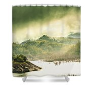 Majestic Morning Lake Shower Curtain