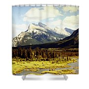 Majestic Mount Rundle Shower Curtain